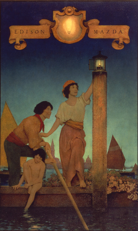 Event Calendar Illustration : Maxfield parrish national museum of american illustration