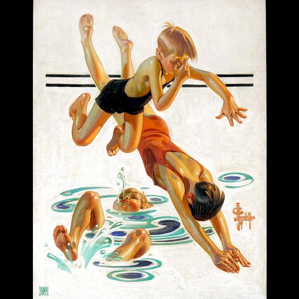 Print_TRUCHROME_LeyendeckerJC-KidsSwimming
