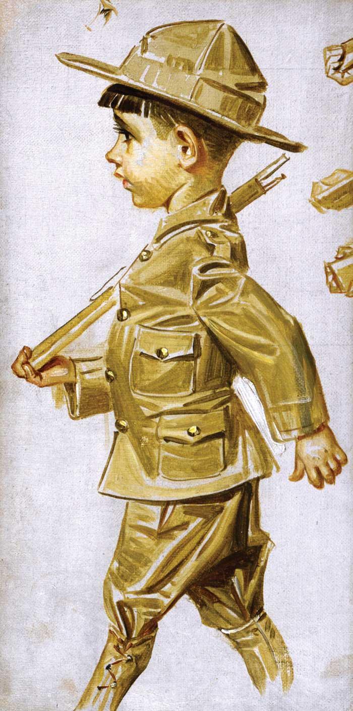 Leyendecker_JC_Marching-Boy-in-Uniform_Study_HR_CMYK